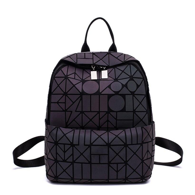 Diamond Bao Bao Backpack 2018 Fashion Baobao Luminous Backpack Women Geometric Back Bags Female Bckpack School Bag Girl Mochila паяльник bao workers in taiwan pd 372 25mm