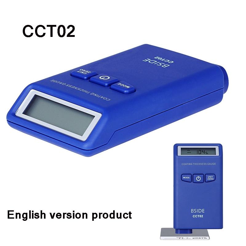 Цифровой датчик толщины покрытия BSIDE CCT02 Мини измеритель толщины краски автомобиля пленка краска покрытие тестер вихревой ток(F+ N - Цвет: CCT02