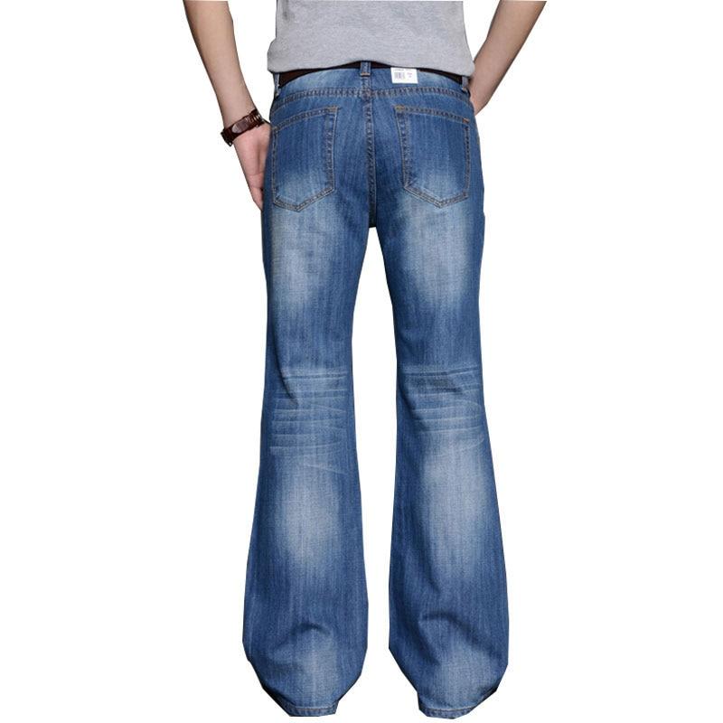 2018 Mens Big Flared   Jeans   BootCut Leg Flared Loose Fit high Waist Male Designer Classic Denim   Jeans   Pants Bell Bottom   Jeans