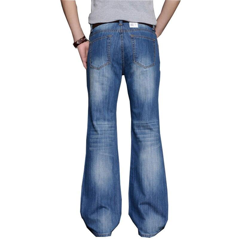 2019 Mens Big Flared   Jeans   BootCut Leg Trousers Loose Male Designer Classic Denim   Jeans   Bell Bottom   Jeans   for Men Hosen Herren