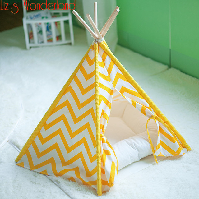 Washable Portable Pet Bed Dog Cat Rabbit Kennel Winter Small Dog Tent Pet Teepees With Cushion & Washable Portable Pet Bed Dog Cat Rabbit Kennel Winter Small Dog ...