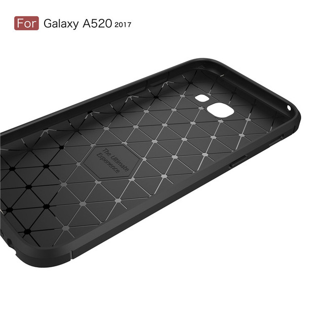 Whyes For Samsung Galaxy A5 2017 Case A520 Carbon Fiber Soft TPU Heavy ShockProof Silicone Case For Samsung A5 2017 A520 Cover 3