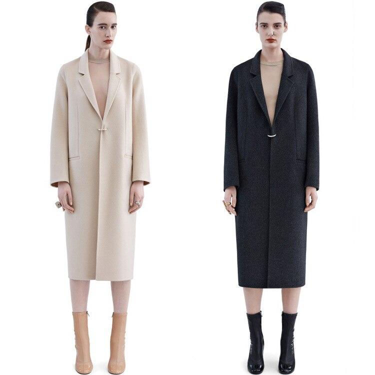 d73bbde8f3de36 Purebliss 2017 lana cashmere lungo maxi cappotto bianco nero grigio scuro  di grandi dimensioni donne in Purebliss 2017 lana cashmere lungo maxi  cappotto ...