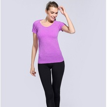 Women Sport T Shirt Quick Dry Fitness Clothing Sports Gym Running Jogging Shirts Activewear Yoga Tops Sports T-shirt Top Gym XL