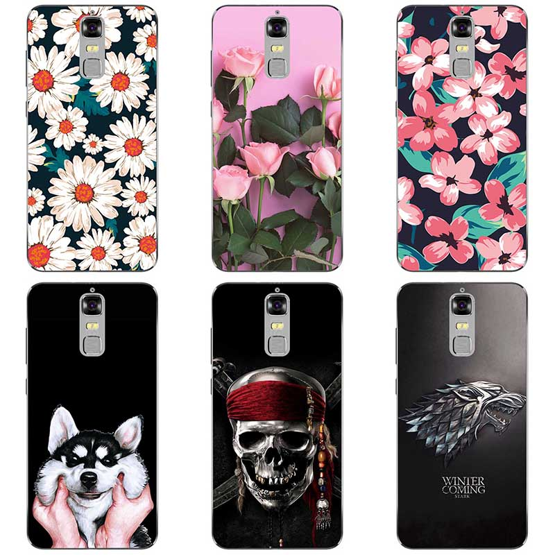 Soft silicone Phone Cases For <font><b>ZTE</b></font> <font><b>Blade</b></font> <font><b>A610plus</b></font> Soft TPU Material Back Cover Coque Print painting Flower style image