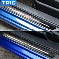 Carbon Fiber Car Door Sill Plate For BRZ STI TOYOTA 86 TRD 2013-2017 2pcs Carbon Fiber Door Sill Plates Emblem Badgs Car Styling