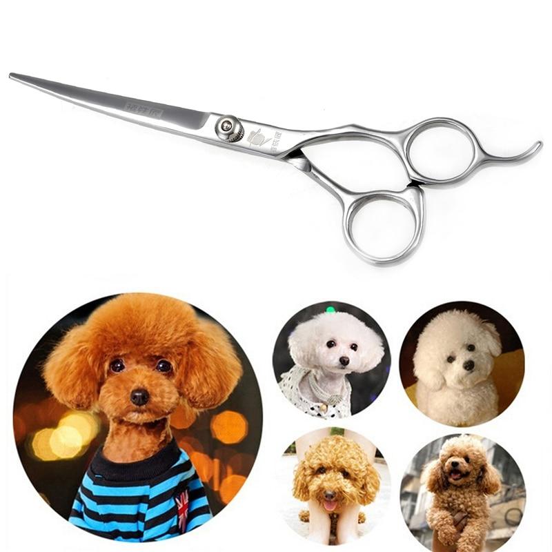 고품질 7 인치 스테인레스 스틸 애완 동물 강아지 고양이 강아지 Decurved 가위를 정리 Thinning Shears 빗 트리머 헤어 커팅 도구