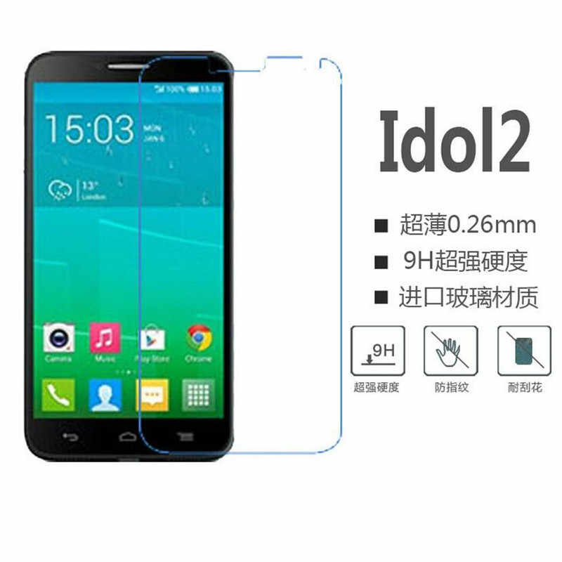 Alcatel One Touch Idol 2 Tempered Glass Screen Protector 2.5 9h safety Protective Film on Idol2 6037 onetouch 6037K 6037Y 6037I