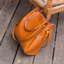 Zency Fashion Brown 100% Genuine Leather Women Handbag Simple Travel Tote Bag Large Capacity Lady Shoulder Bags Crossbody Purse