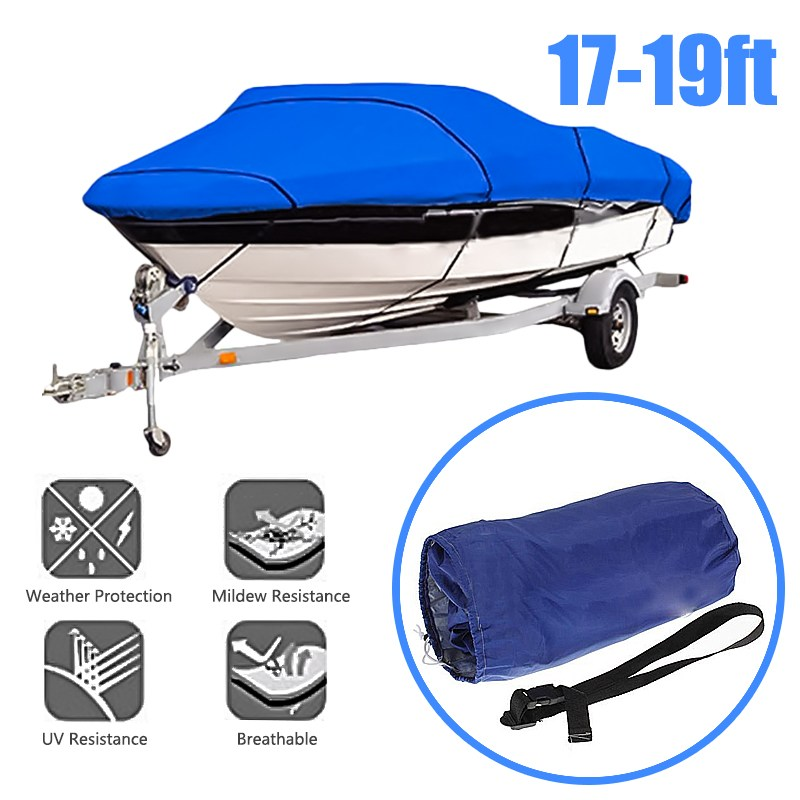 Double Sewing Fish Ski Trailerable PU Boat Cover Waterproof Boat Cover Durable Weather Proof Water Resistant double cover set marie claire double cover set
