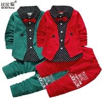 2016 Fashion Spring Gentleman Style Children Clothing Set Baby Boys Clothing Set Fake Three Pieces Clothes