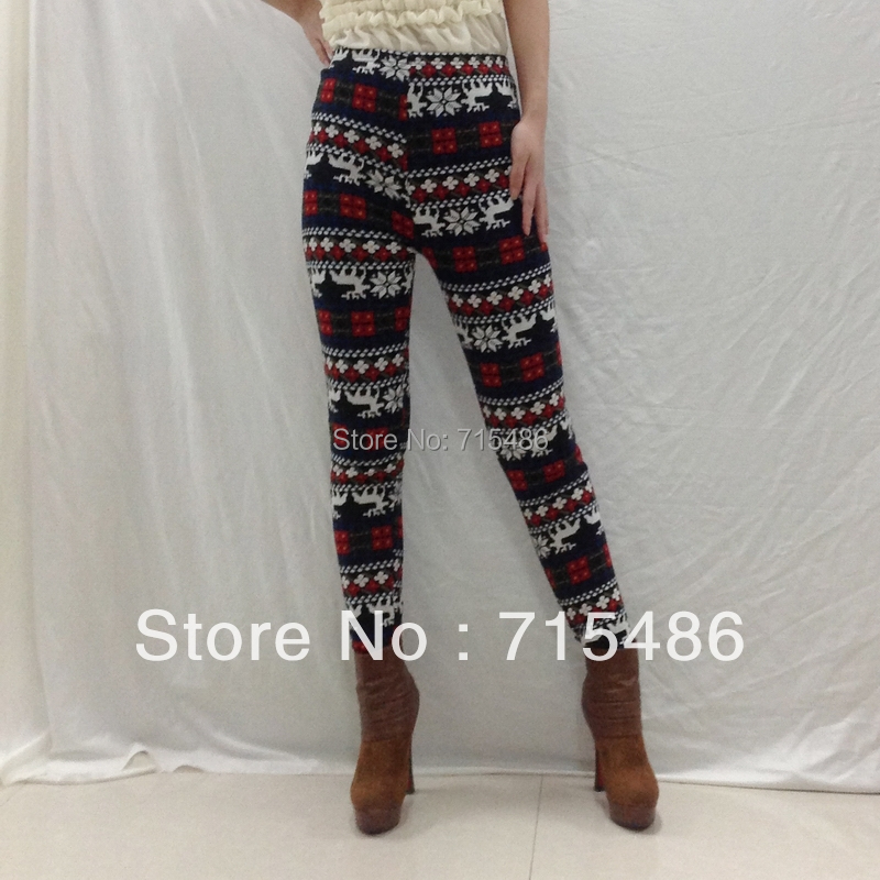 Free Shipping  DA7617 Women Leggings Winter women Pants Cashmere Snow   Warm Galaxy leggings