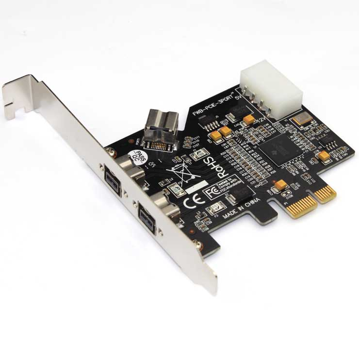 PCIE Combo 2x 1394b + 1x 1394a Firewire Ports PCI-Express Controller Card, 1394 card TI Chipset, syba 3 port firewire 1394b 1394a pci express 1 1 x1 card ti xio2213b chipset sy pex30016
