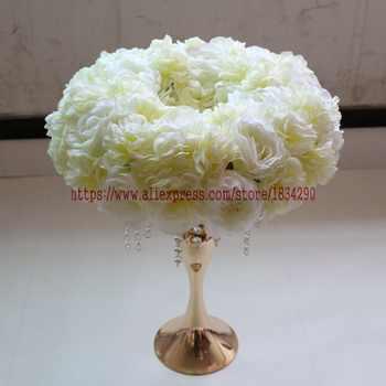 Artificial rose ring wreath Wedding decoration table centerpiece flower ball Arch flower 45cm 10pcs/lot Mixcolor - SALE ITEM - Category 🛒 Home & Garden