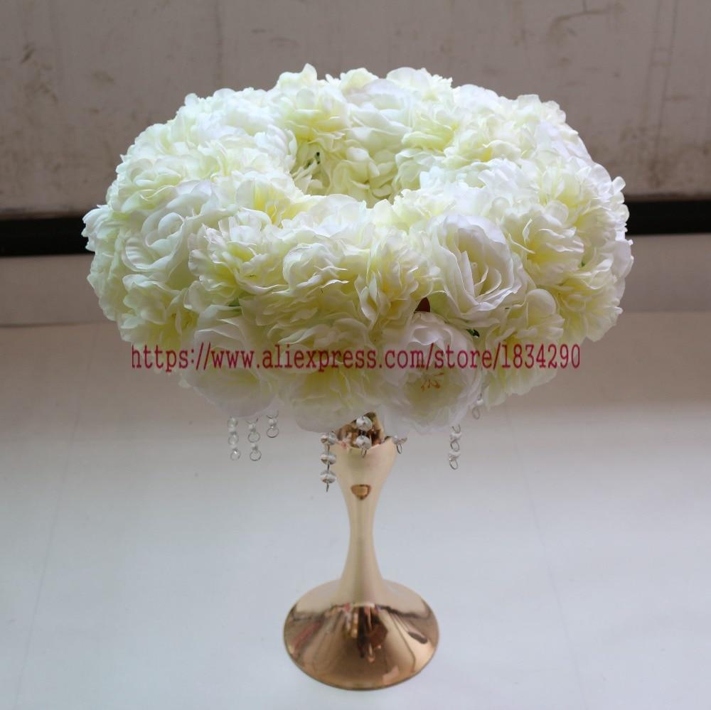Artificiales de rose anillo boda decoración mesa centro de mesa flor arco flor 45 cm 10 unids/lote Mixcolor-in Flores artificiales y secas from Hogar y Mascotas    1