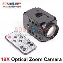 1080 P 18X HD Zoom óptico de la cámara del TF de almacenamiento salida CMOS Sensor de la videocámara lente HD para FPV fotografía aérea