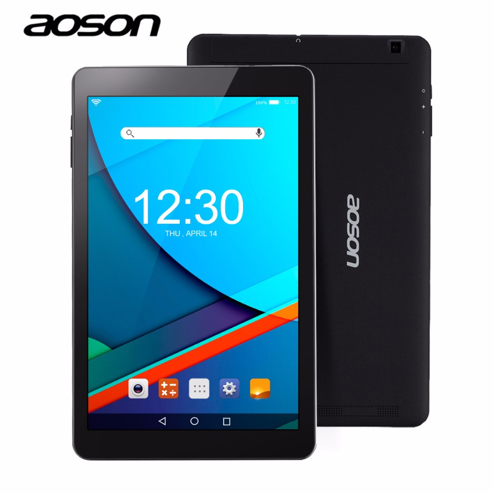 Original AOSON R101 10.1 Inch Tablet PC 2GB RAM 16GB ROM Android 6.0 Tablet Quad Core 1280x800 IPS Screen Dual Camera GPS Black car charger for tablet pc cube u10gt u10gt2 aoson m19 more black dc 9v
