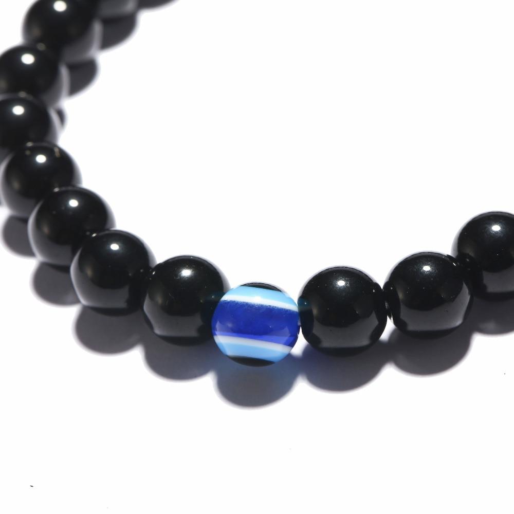 Turkish Evil Eyes Obsidian Bracelet