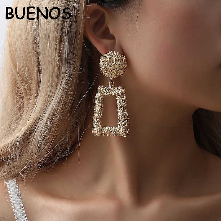 BUENOS Big Drop Earrings for Women Geometric Statement Earrings female 2019 Fashion Modern Jewelry hanging CE0507