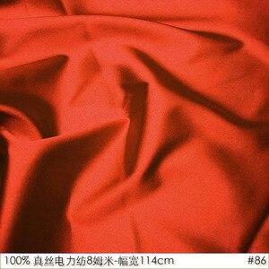 CISULI 100% SILK HABOTAI 114cm width 8momme Pure Silk Jarn Fabrics Batik Painting DIY Patchwork Fabric Bright Orange NO 86(China)