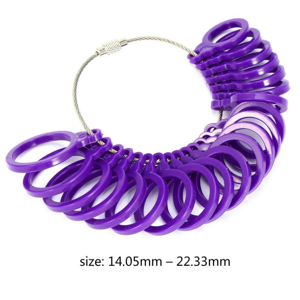 Conjunto 1 21 Pcs Medida Conjunto Bitola Anel Sizer Dedo Dimensionamento Medida Calibre Definir Jeweler Jóias Tamanho Ferramenta de alta qualidade