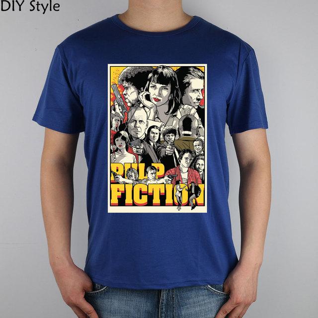 Pulp fiction cartel alternativo Camiseta Top de Lycra de Algodón Hombres de la camiseta del Nuevo Estilo DIY de
