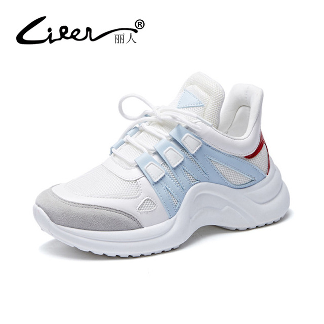 48f1bfd37fb Big Size 43 Sneakers Women 2018 New Platform Shoes Womens Spring Fashion  Black Sneakers Casual Lace Up Shoes Ladies Shoe Woman