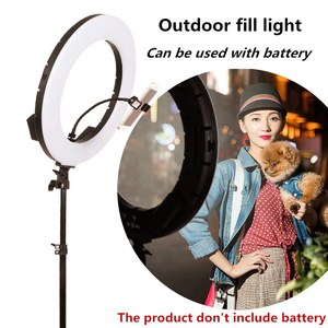 """Image 4 - GSKAIWEN 18""""60W LED Beauty Light Eyebrow Tattoo Lamp Makeup Ring Light Dimmable Photography Studio Video Light with Battery Slot"""