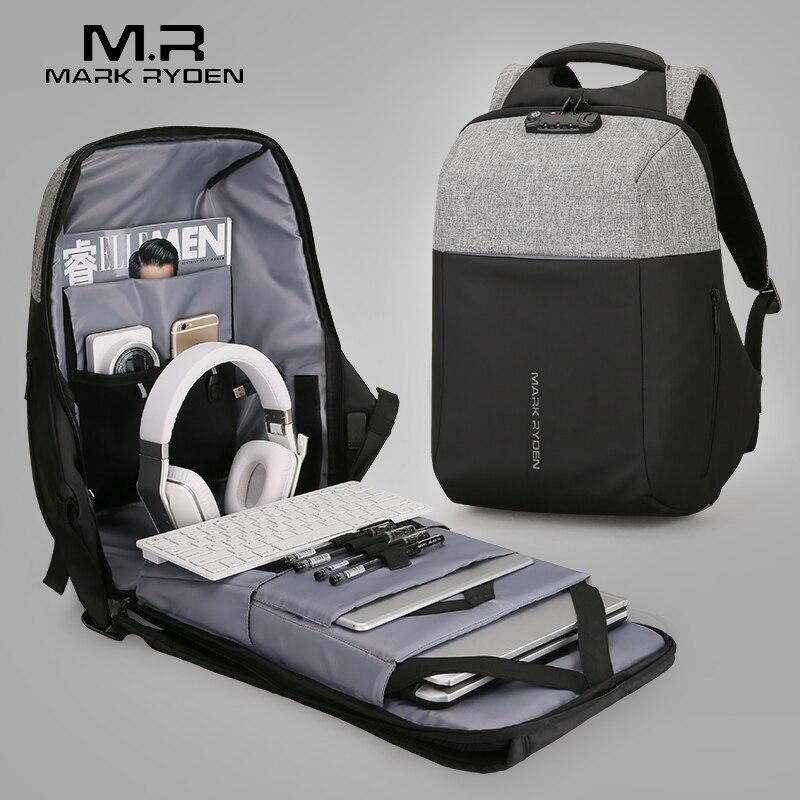 Mark Ryden Neue Anti-dieb USB Aufladen Laptop Rucksack Hard Shell Keine Schlüssel TSA Zoll Lock Design Rucksack Männer reise Rucksack
