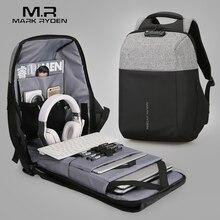 マークライデン新抗泥棒のusb充電ノートパソコンのバックパックハードシェルなしキーtsa税関ロックデザインのバックパック男性旅行のバックパック