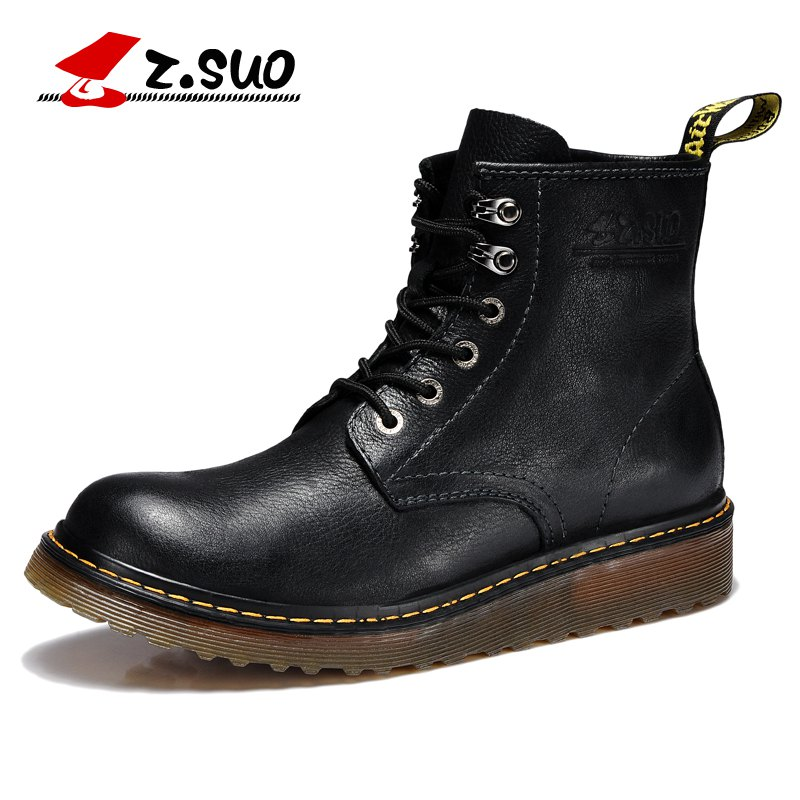 Z Suo Men leather Motorcycle Boots Vintage motorbike protective Motorcycle boot motorcyclists street Riding shoes