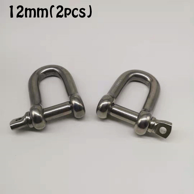 12mm ,2pcs 304 Stainless Steel D- Dee Shackle , High Quality Shackle ,  Dee Shackle