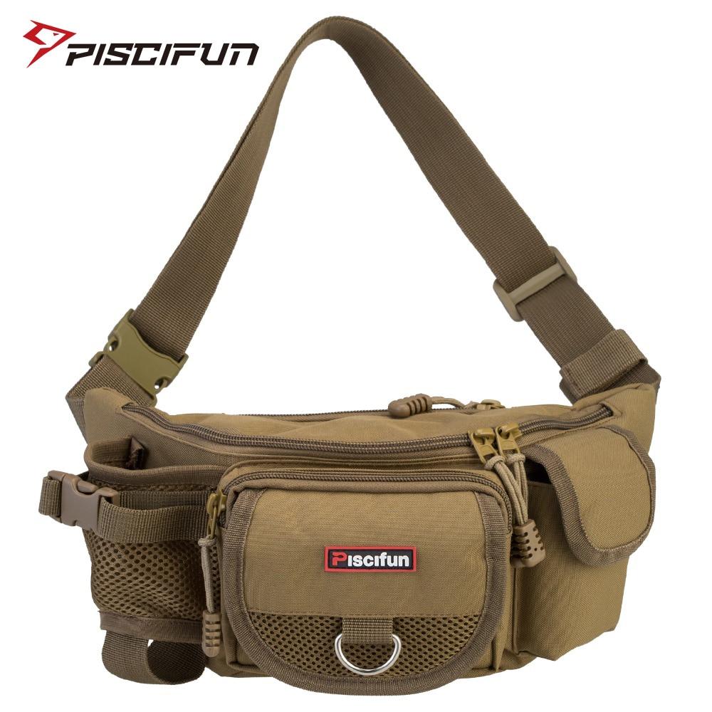 Bolsa de pesca Piscifun bolsa multifuncional de cintura al aire libre bolsa de señuelo Portátil Bolsa de mensajero Paquete de poste bolsa de aparejos de pesca