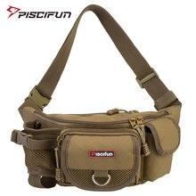 Piscifun Fishing Bag Multifunctional Outdoor Waist Bag Portable Lure Waist Pack Messenger Bag Pole Package Fishing Tackle Bag