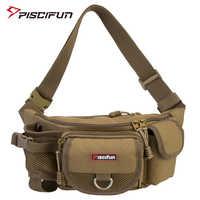Sac de pêche Piscifun multifonctionnel sac de taille en plein air Portable sac de taille de leurre sac de messager paquet de poteau sac de matériel de pêche