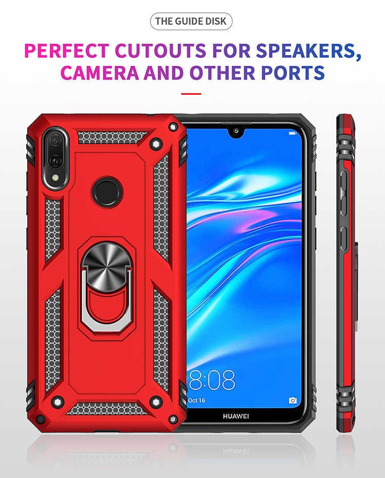 P Smart 2019 сверхпрочный противоударный чехол для huawei Honor 10 Lite Y5 Y6 Y7 Y9 Prime Pro 2019 чехол Гибридный Силиконовый чехол