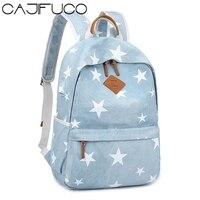 CAJICUO Canvas Backpack Women School Bag