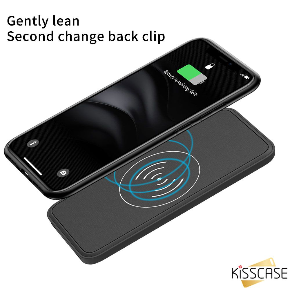 KISSCASE wireless Power Bank charging Case For Samsung S10 Plus S10e S8 S8 Plus S9 S9 Plus Note 8 9 Portable Qi Wireless Charger