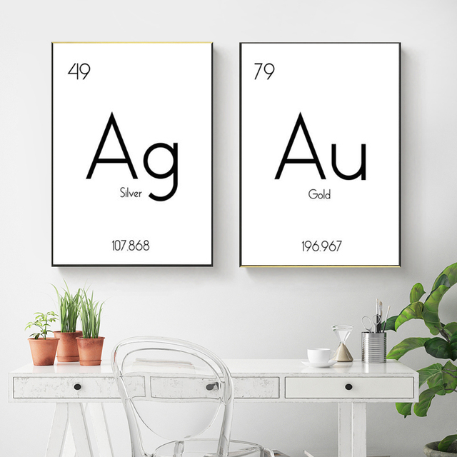 Customize Chemistry Canvas Art Print and Poster Periodic Table Of