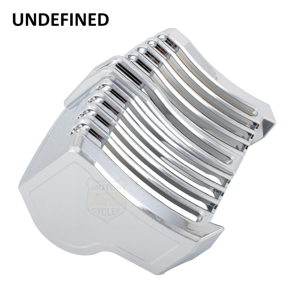 Motorcycle Parts Chrome Oil Cooler Cover For Harley Touring CVO Electra Glides Freewheele Road King Bagger 2017 2018 UNDEFINED