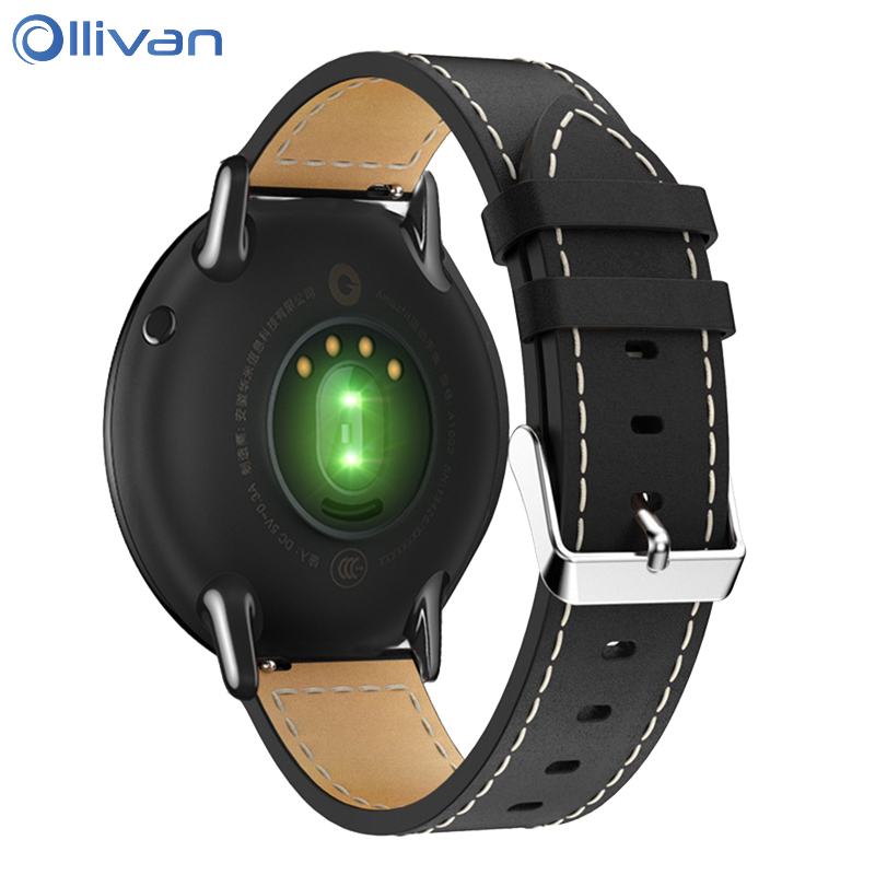 For Xiaomi Huami Amazfit stratos 2 2S Leather Strap Smart Watch Band 22mm Bracelet Straps for Samsung Gear S3 for Amazifit Pace amazfit leather bracelet watch band 22mm for xiaomi huami amazfit pace stratos 2 correa wrist strap for samsung gear frontier s3