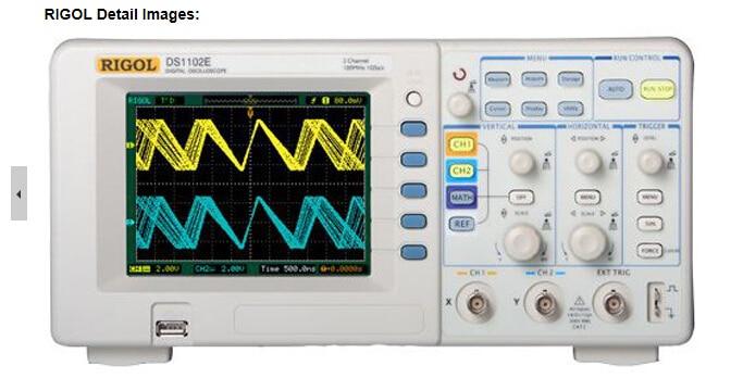 Fast arrival RIGOL DS1102E 2Channel Bench Digital Oscilloscope 100MHz,1GSa/S