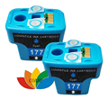 2 Pack Compatible HP 177 HP177 Cyan ink Cartridge for HP Photosmart C4583 C5283 C4283 C4483 D5363 Printer