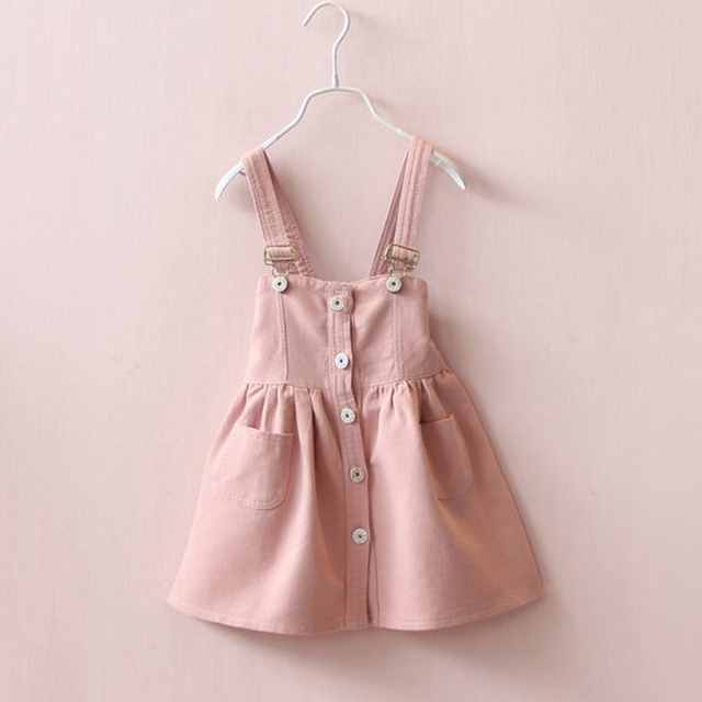 2017 Fashion Children Dress Girls Denim Dress Overalls Kids Girl Jean Straps High Quality Kids Clothes