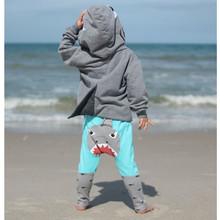 Unisex Winter Toddler Kid Baby Girl Boy 3D Cartoon Hoodie Shark T shirt Tops+Pants Clothes Set Christmas warm soft  gift
