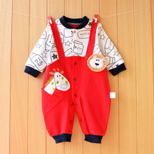 YiErYing Baby Conjoined Clothes Spring and Autumn Cartoon Newborn Animal Jumpsuits