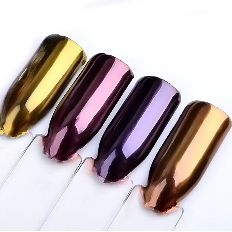 2g/box Nail Glitter Mirror Chrome Powder Rose Gold