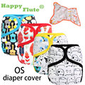 2016 new design! Happy Flute 1 pcs color-edged diaper waterproof cover