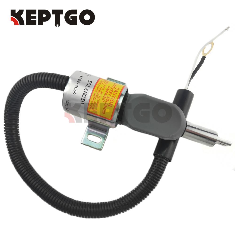 New Fuel Shut Off Solenoid for Isuzu 4JG1TP Engine TL140 C240 12VNew Fuel Shut Off Solenoid for Isuzu 4JG1TP Engine TL140 C240 12V