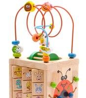 Animal Beetles Math Wooden Multi Function Abacus Clock Beads Enlighten Toy Educational Teaching Kids Children Fun Intelligece